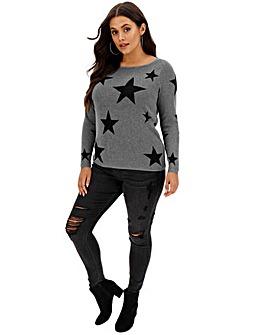 Junarose Star Knit Pullover