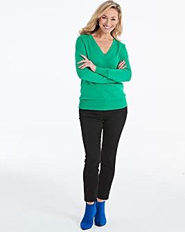 Green V Neck Jumper
