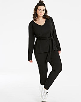 Lasula Black Long Sleeve Loungewear Set