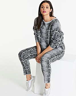 Lasula Snake Print Knit Co-ord Set