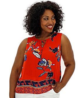 Vero Moda Floral Print Sleeveless Top