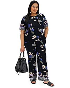 Vero Moda Floral Print Wide Leg Pants