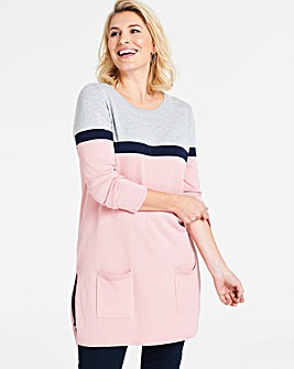 Grey/Blush Pocket Tunic