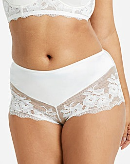 Simply Be Savanna White Satin Lace Short