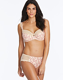 Joe Browns Oriental Printed Non-Padded Wired Balcony Bra