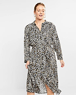 Violeta by Mango Leopard Print Dress