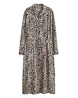 Violeta by Mango Leopard Print Dress