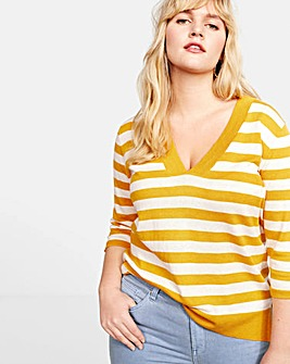 Violeta by Mango Stripe Sweater
