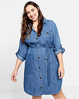 Violeta By Mango Denim Shirt Dress