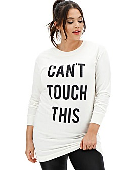 Pink Clove Slogan Sweater Dress