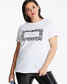 Pink Clove Be Stong Slogan T-Shirt