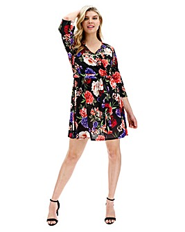 Pink Clove Floral Print Wrap Dress ab1cc2ee1