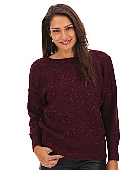 Oasis Curve Batwing Sequin Jumper