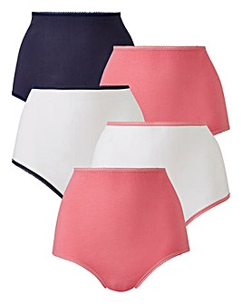 5 Pack Ink/White Value Full Fit Briefs