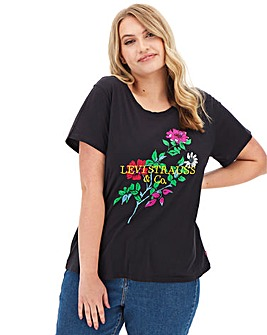 Levi's Perfect T-Shirt with Floral Embroidery