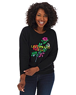 Levi's Relaxed Floral Crew Neck Sweatshirt