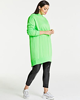 AX Paris Neon Green Plain Jumper Dress