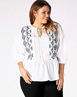 Koko White Printed Blouse