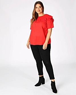 Koko Red Ruffle Blouse