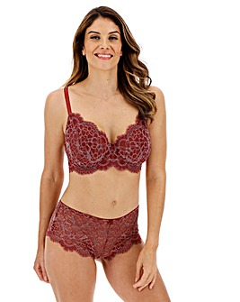 Pretty Secrets Jade Lace Peacan/ Almond Full Cup Wired Bra
