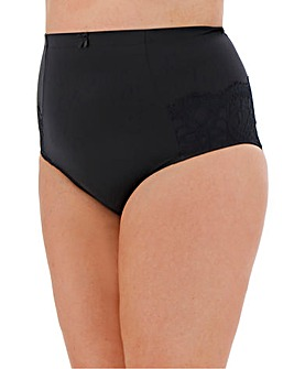 Pretty Secrets Jade Lace Firm Control Brief Black