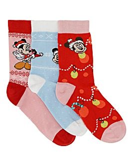 3 Pack Disney Christmas Gifting Socks