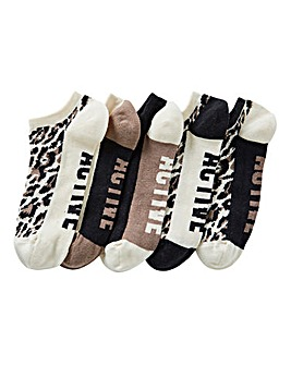5 Pack Active Trainer Liner Socks