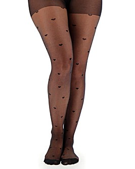 1 Pack Heart Sheer Tights