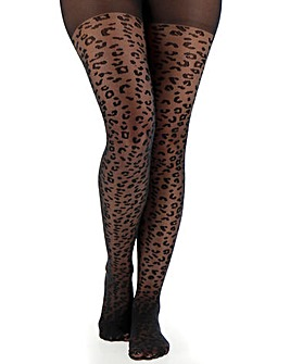 Pretty Secrets Black 1 Pack Animal Sheer Tights