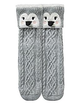 1 Pack Penguin Slipper Socks