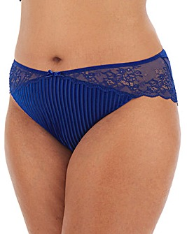 Simply Be Striped Velour Brazilian Brief
