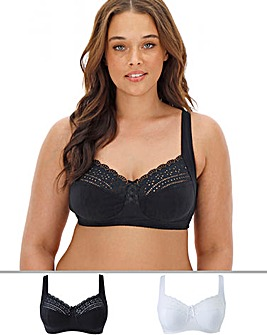 2Pack Jane Non Wired Bras