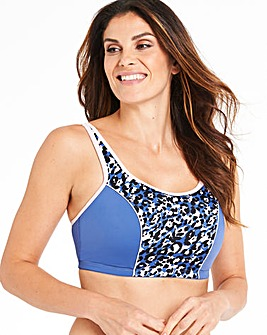 Pretty Secrets High Impact Animal Print/Pink Sports Bra