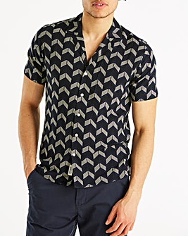 Hammond & Co Navy Chevron Shirt
