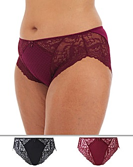 2 Pack Eva High Leg Briefs