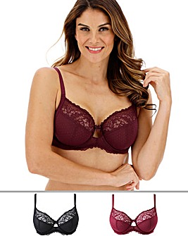 2Pack Eva Lace Full Cup Bras