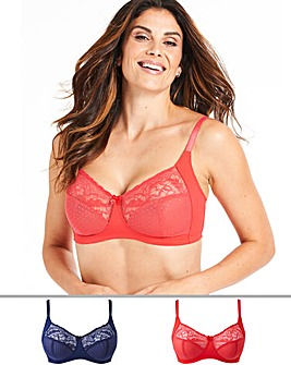 2Pack Eva Lace Non Wired Bras