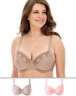 2Pack Elana Full Cup Bras