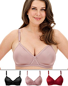 3Pack Claire Moulded Full Cup Bras