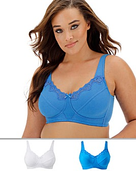 2Pack Sarah Full Cup Non Wired Bras