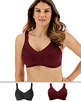 2Pack Sally Minimiser Non Wired Bras