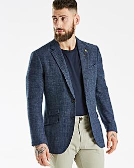 Hammond & Co Blue POW Linen Mix Blazer