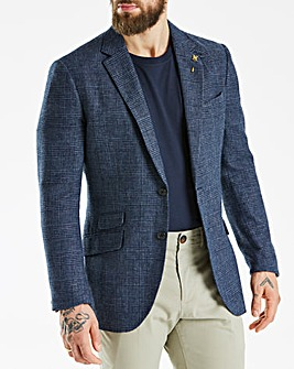 Hammond & Co Blue POW Linen Mix Blazer