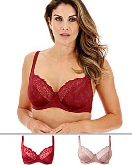 Pretty Secrets Laura 2 Pack Almond/Saffron Full Cup Wired Bras