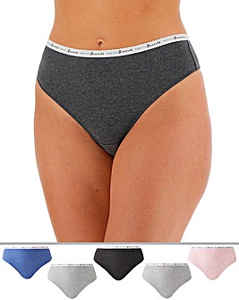 5 Pack Waistband Midi Thongs