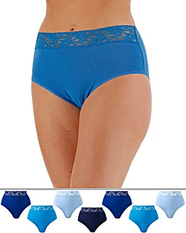 7 Pack Lace Top Full Fit Briefs
