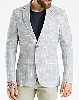 Hammond & Co Grey POW Linen Blazer
