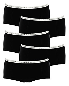 5 Pack Pretty Secrets Marl Banded Shorts