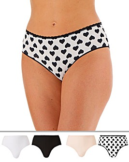 4 pack Value Micro Midi Briefs