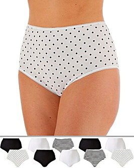 Pretty Secrets 10 Pack Full Fit Briefs